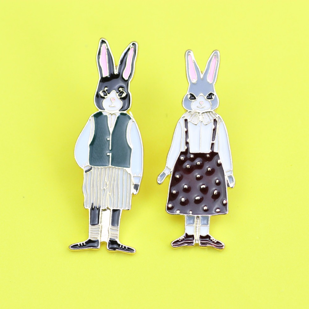 Timlee X297 Envío gratis Cartoon Cute Cats Rabbits Foxes Metal - Bisutería - foto 5