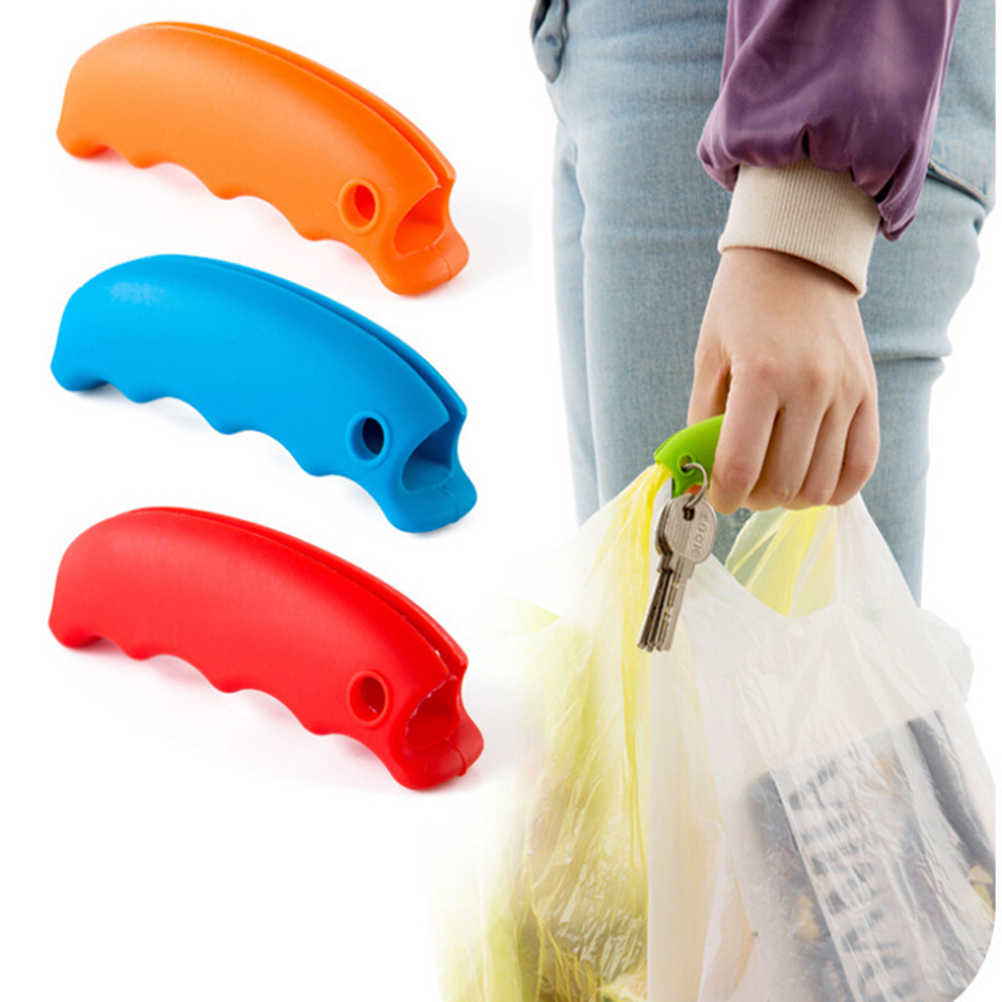 1 Piece Bag Carrying Handle Tools Silicone Knob Relaxed Carry Shopping Handle Bag Clips Handler Kitchen Tools