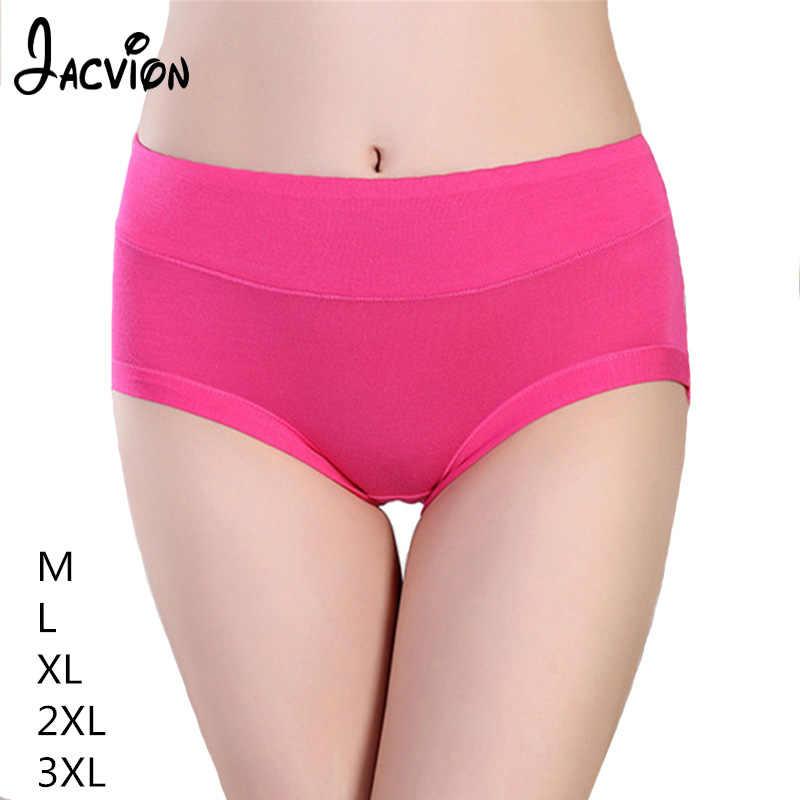 826e884846d3 Women Underwear Ladies Cotton Panties Bamboo Fiber Plus Size M-3XL Soft  Briefs Female Solid