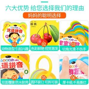 Image 3 - 12 teile/satz Frühen Bildung Baby Vorschule Lernen Chinesische charakter karten mit englisch bild/Tier/obst/kinder song