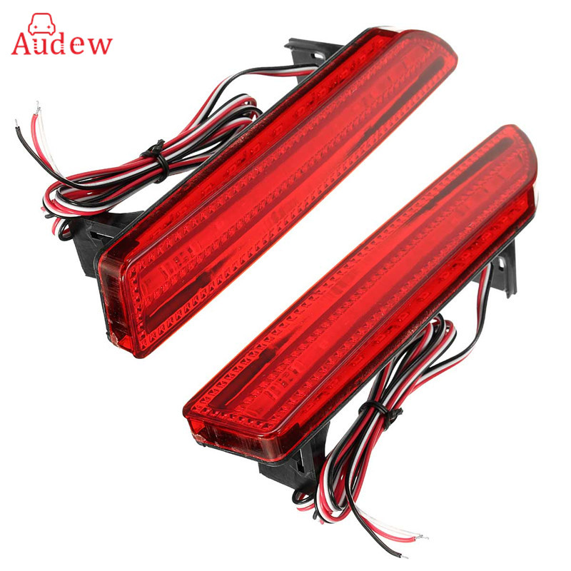 2 Pcs/Pair Tail Rear Bumper Light LED ReflectorStop Brake Fog Lamp For Honda CRV 2007 2008 2009 rear fog lamp spare tire cover tail bumper light fit for mitsubishi pajero shogun v87 v93 v97 2007 2008 2009 2010 2011 2012 2015