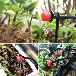 Image 5 - Set de rociadores de jardín con cabezal de microflujo cabezal de irrigación ajustable, gotero de agua, 100 unidades