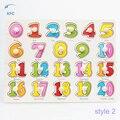 Новый Дети Дети Дошкольного Образования Деревянные Буквы Алфавита, Цифры Головоломки Обучающие Игрушки Подарок