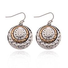 aaa526b9a Round Silver Earrings For Women Ethnic Bohemian Dangle Earrings Ethnic  Jewelry Female Mental Nepal India Earrings