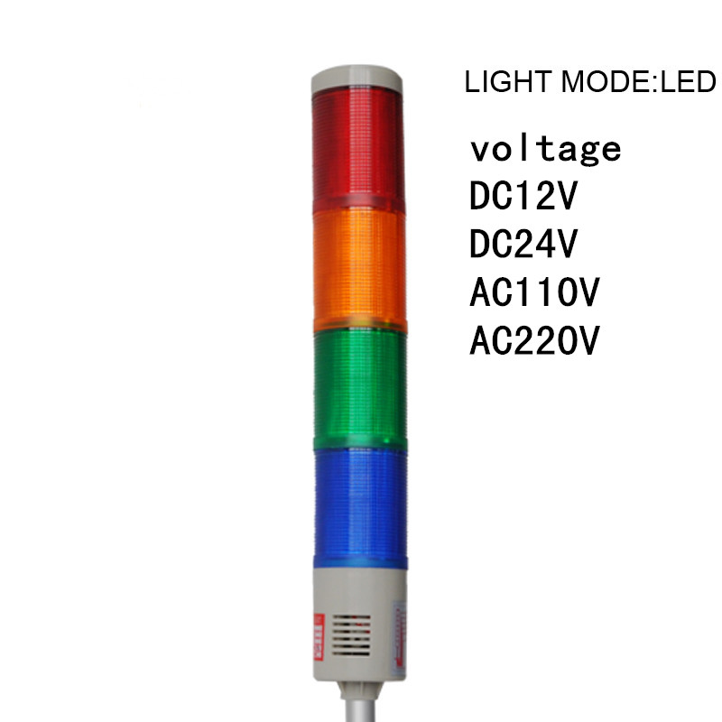 LTA-505-4 machine light  Multilayer warning light four layer tower lamp  AC220V DC24V DC12V  emergency Beacon Strobe lighting lta 205j 2 dc12v 2 layer tower light signals bulb warning lamp alarm 90db red green u bottom