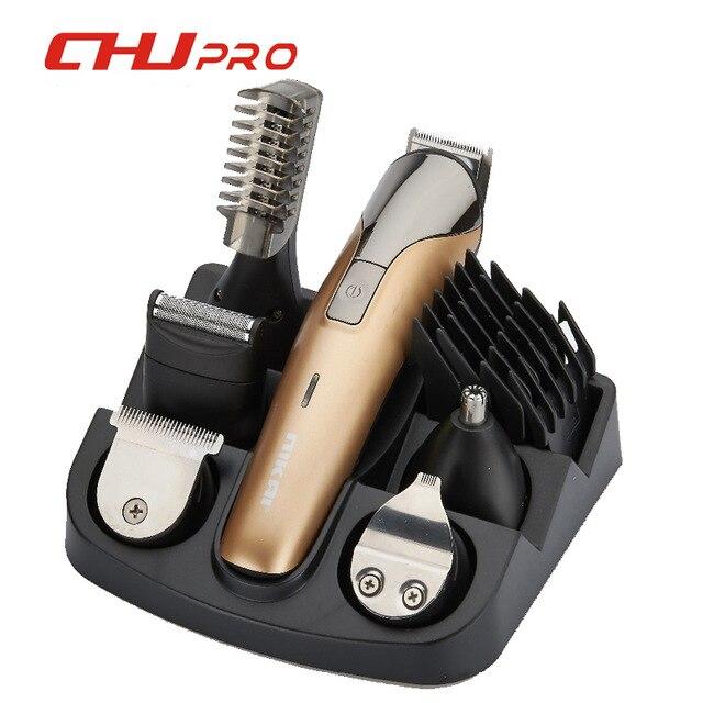 Professionnel 11in1 tondeuse à cheveux sans fil Rechargeable tondeuse à cheveux rasoir barbier tondeuse de nez outils de coiffure