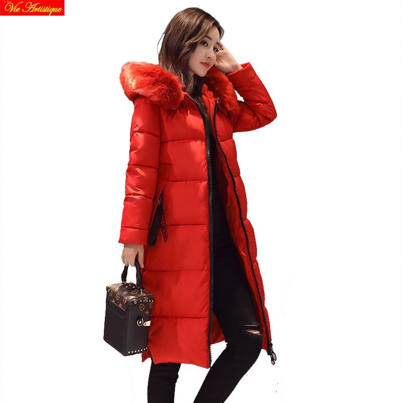 parka women miegofce winter coats and jackets long femme parka warm winter coat women outerwear black red pink grey fur collar