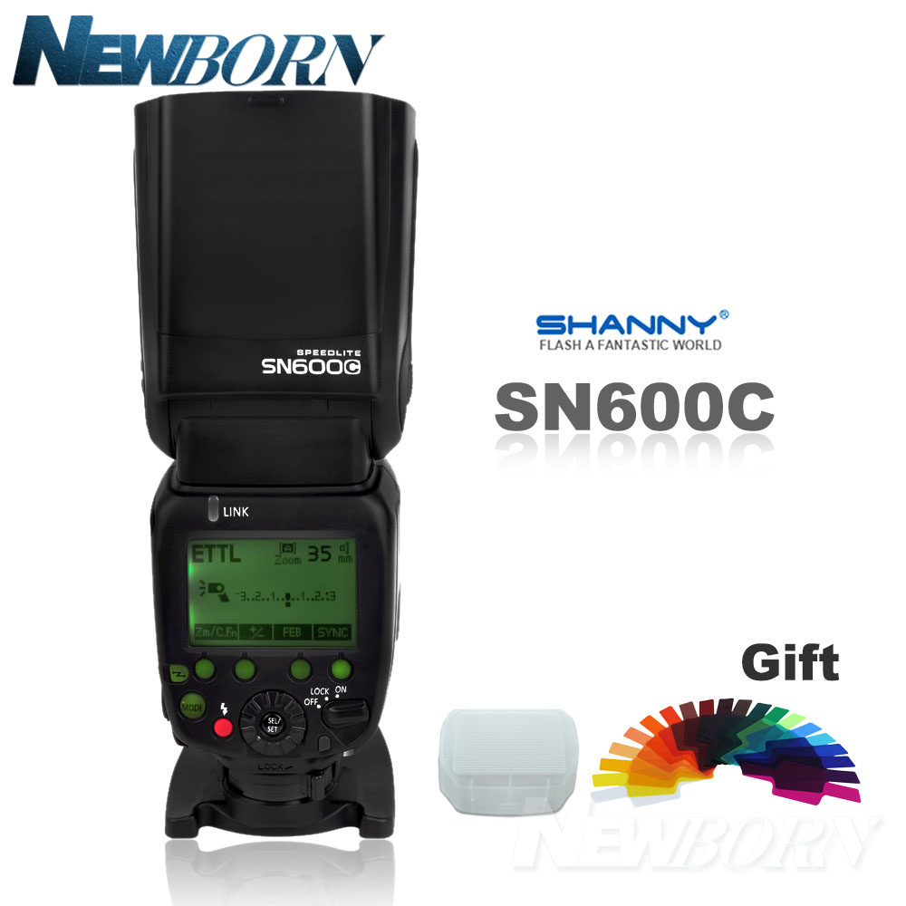 SHANNY SN600C HSS 1 8000S On camera TTL GN60 Flashgun Flash Speedlite For Canon 760D D750D