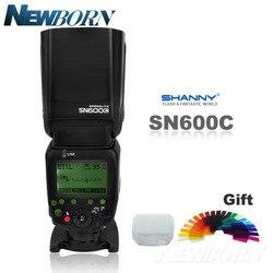 SHANNY SN600C HSS 1/8000S On-camera TTL GN60 Flashgun Flash Speedlite For Canon 760D D750D 700D 650D 600D 70D 60D 7D 6D 100D 5D