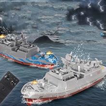 Радиоуправляемый корабль 2,4 ГГц Военная игрушка пульт дистанционного управления модель корабля корабль линкор детский круиз высокоскоростной пульт дистанционного управления лодка игрушка