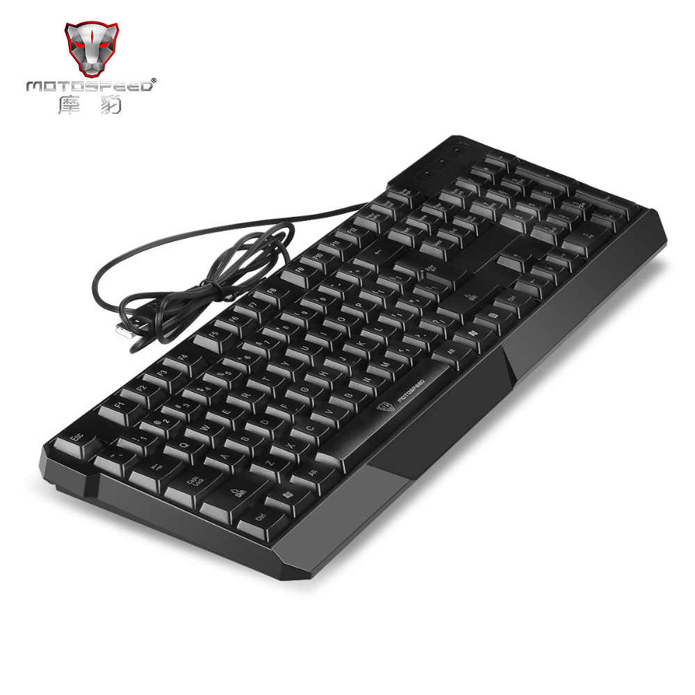 d5d0b5275f2 MotoSpeed K70 7-Color Colorful Backlight Computer Teclado USB 104 Keys  Gaming Keyboard Membrane Keybs