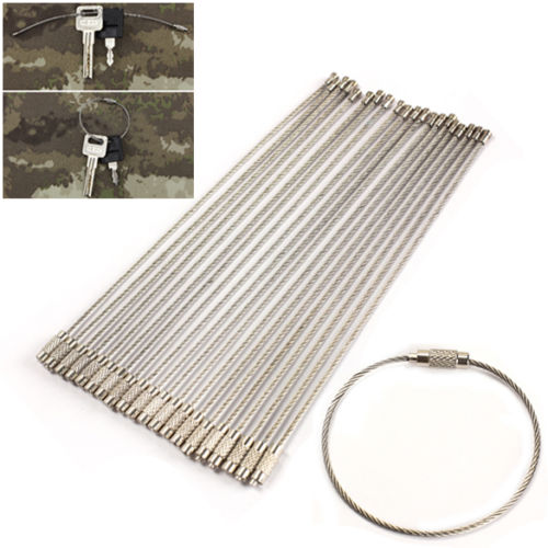 10Pcs Stainless Steel Aircraft Wire Cable Key Ring Chain Twist Screw  Lock-in Locks from Home Improvement on Aliexpress.com  7266c9951