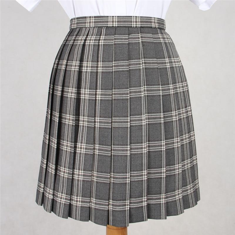 Japanese New Spring Women Cosplay Pleated Skirt Girl School Uniform Skirt Solid High Waist Skirt Mini Skirts Multicolor Female