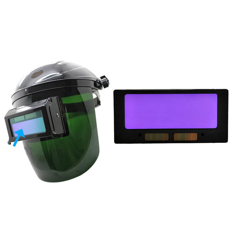 1Pcs Solar Auto Darkening Welding Helmet/Mask/Welder Cap/Welding Lens/Eye Mask Lens DIN3 - DIN11 Filter Shade fire flames auto darkening solar powered welder stepless adjust mask skull lens for welding helmet tools machine free shipping