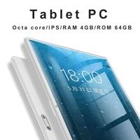 Original 10 inch 3G/4G Phone tablet PC Octa Core RAM 4GB ROM 64GB 1920*1200 IPS Dual SIM card tablets pcs 10 10.1 free Shipping