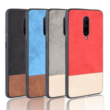 for OnePlus 7 Pro Cover Hard Back Non-Slip Fabric Cloth Luxury Leather Case Cover For OnePlus 6T 6 5T 5 Fundas Coque Capa