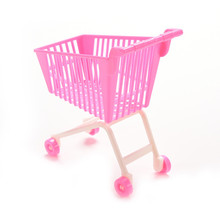1pcs Nice Pink Shopping Cart for Barbie Accessories  Classic Toys Trolleys for Kids Girls Birthday Christmas Gift Free Shipping