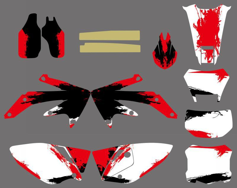 GRAPHICS & BACKGROUNDS DECALS STICKERS Kits for Honda CRF450X 4 STROKES 2004 2005 2006 2007 08 09 10 11 2012 CRF 450X CRF 450 X for honda crf 250r 450r 2004 2006 crf 250x 450x 2004 2015 red motorcycle dirt bike off road cnc pivot brake clutch lever