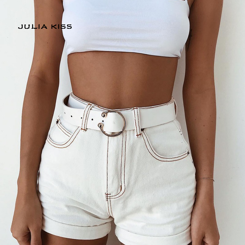 Women High Waist White Denim   Short   Fashion Sexy   Shorts