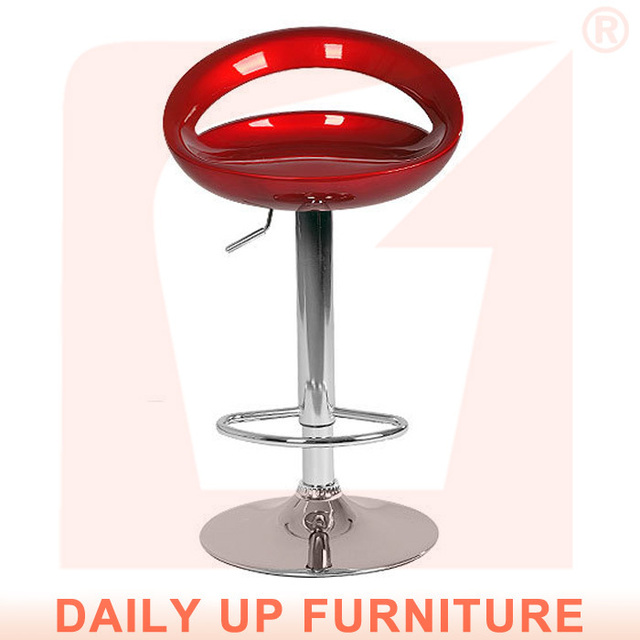 New Kitchen High Chair Chrome Base Abs Bar Stool With Footrest Cafeteria Living Room