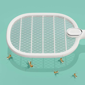 Image 5 - חדש Youpin 3 חיים יתושים חשמליים מחבט נטענת LED חשמלי חרקים באג יתושים Dispeller רוצח מחבט 3 שכבה נטו