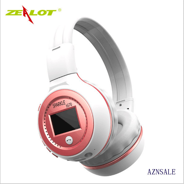 ZEALOT B570 HiFi Stereo Bluetooth Headphone Wireless Headset With Microphone FM Radio Micro SD Card Play sound intone bluetooth headset with microphone support micro sd tf fm radio wireless headphones for iphone pc