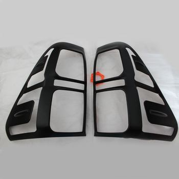 2017 For Hilux light accessories ABS matte black color tail light cover trim for toyota hilux revo 2015 2016 rear lamp hood