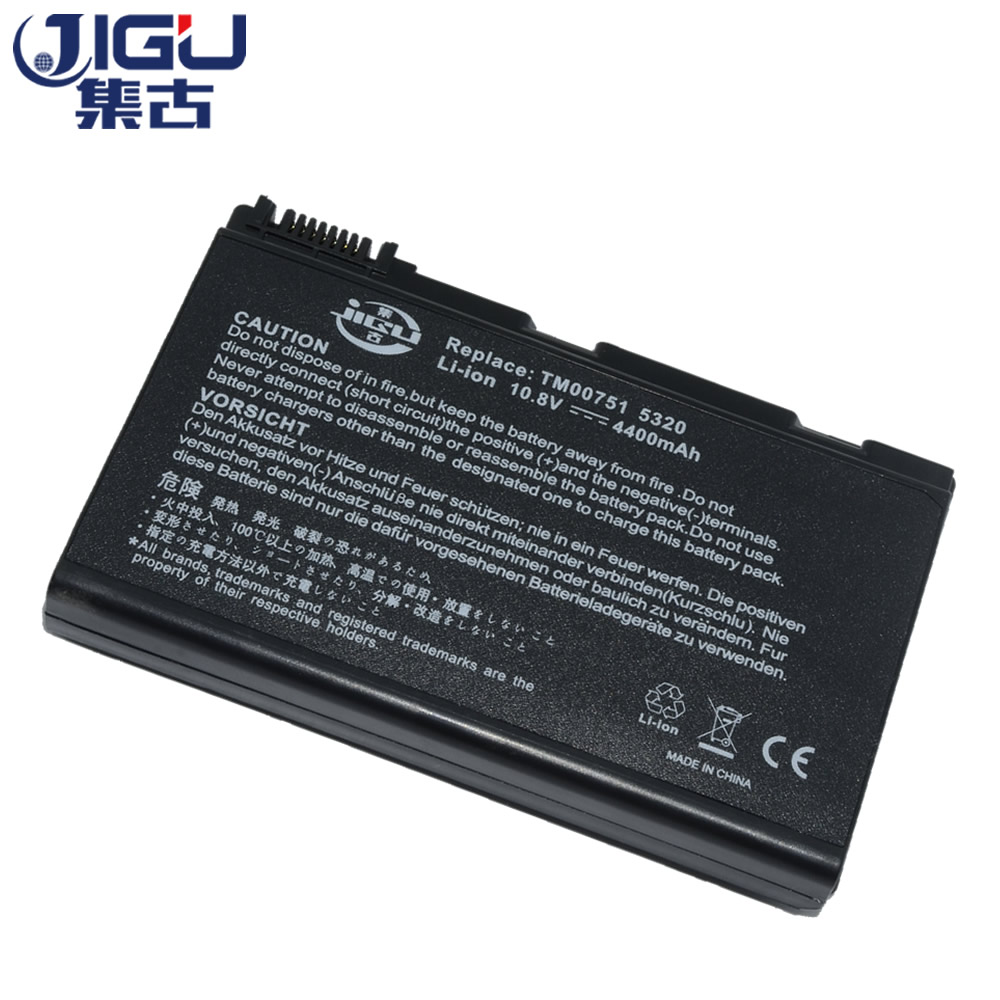 JIGU Battery For Acer Extensa 5220 5235 5620 5630 7620 TravelMate 5320 5520 5720 7720 7520 6592 TM00741 TM00751 GRAPE32 4400mah battery for acer extensa 5210 5220 5235 5420g 5620g 5620z 5630 5630g 5635 5635g 5635z 7220 7620 7620g grape32 grape34