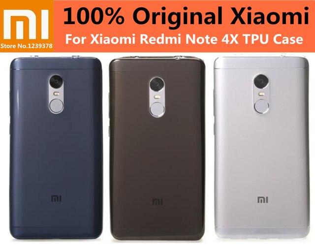 detailed look c77cc 9e8e9 US $0.99 |XIAOMI Redmi Note 4X Cases 100% Original Xiaomi Redmi Note 4X TPU  Phone Case Back Cover Mi note 4x soft Cases 3G/32GB Phone-in Half-wrapped  ...