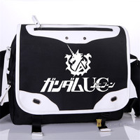 High Quality New Arrive Men Women Shoulder Messenger Bags GUNDAM Canvas Travel Bags Schoolbag