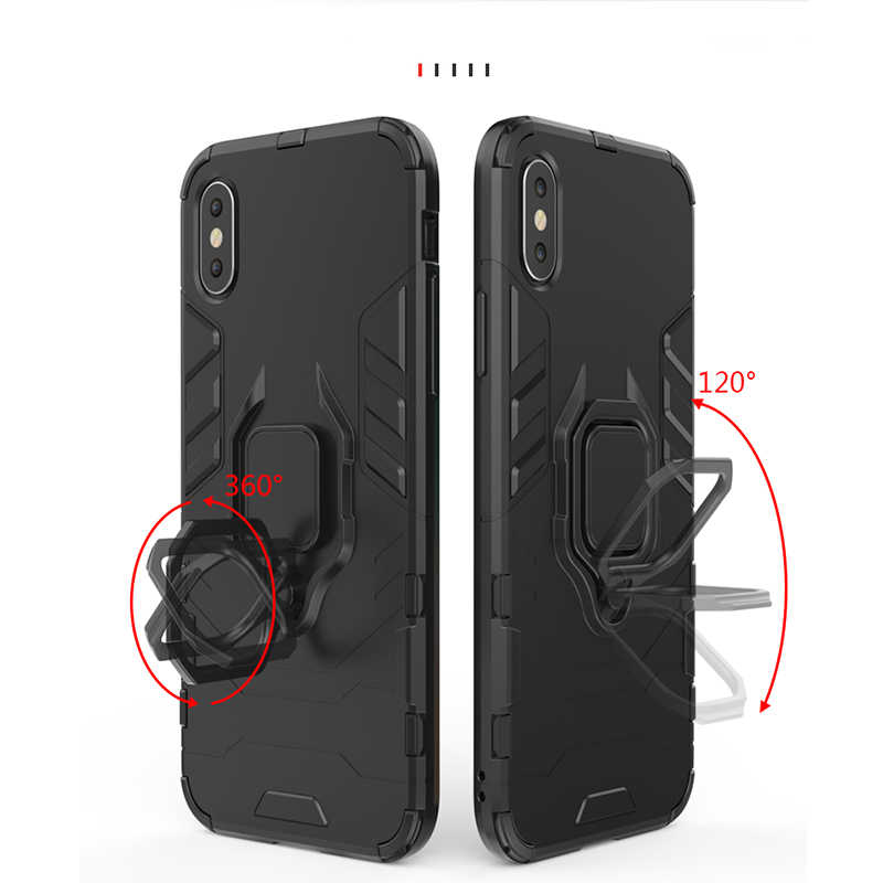 new product d52f3 87c0e sFor Huawei Mate 20 Pro Case Finger Ring Kickstand Hard Case For Huawei  Mate 20 Lite Pro P20 Lite P smart Plus Honor 6X Y9 2019