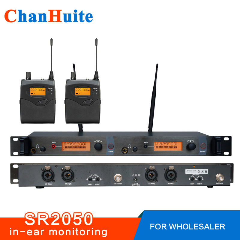 For Wholesaler! SR2050 Wireless in ear monitor system, sr 2050 iem Personal in-ear stage Monitoring 2 Transmitter 2 Receivers 6 pack receivers wireless in ear monitor system professional dual channels transmitter sr 2050 iem