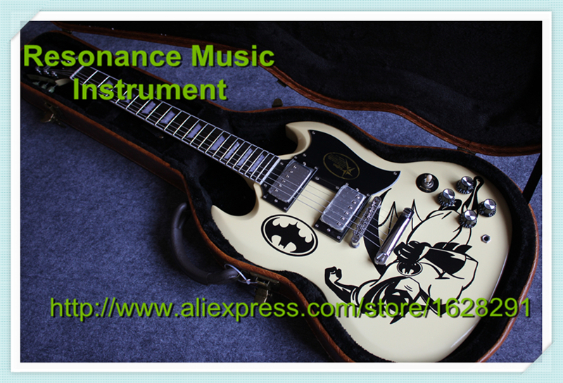 China OEM Guitar Factory Reliable Service Custom SG Guitar G400 Model Cream Yellow OEM Pattern With Hardcase. гитара oem guitar tobocco ems oem