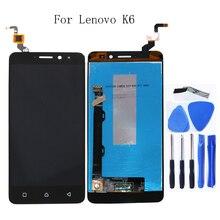 """5.0 """"Lenovo K6 Güç K33a42 lcd monitör dokunmatik ekran takımı değiştirme parçaları için Lenovo K6 k33a48 ekran lcd ekran + Aracı"""