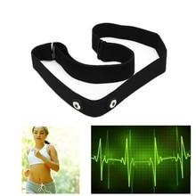 Żel krzemionkowy włókno bezprzewodowe sterowanie bluetooth elastyczny pas na klatkę piersiową pasek na zegarek Garmin Wahoo Polar Sport monitor pracy serca czarny