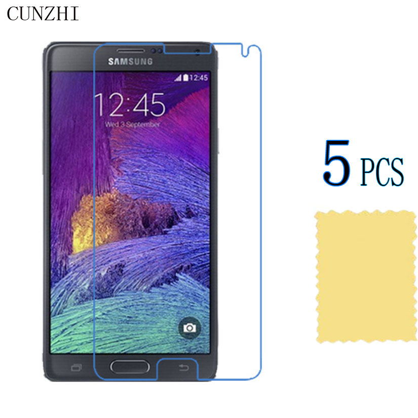 Hohe Clear <font><b>LCD</b></font> <font><b>Screen</b></font> Protector Film Für Samsung <font><b>Galaxy</b></font> Note 4 N9100 <font><b>Note4</b></font> N910X N910F Schutz Ultra Slim Film image