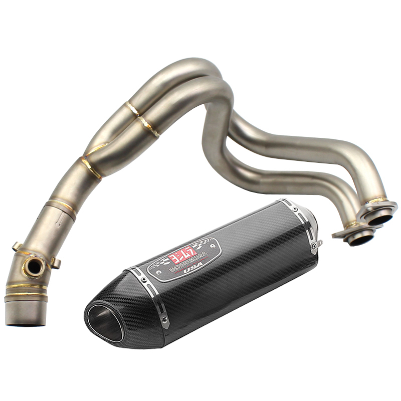 ER-6N ER-6F NINJA650R Exhaust System Slip On Motorcycle Middle Pipe Hearders Yoshimura Exhaust Muffler for Kawasaki ER6N ER6FER-6N ER-6F NINJA650R Exhaust System Slip On Motorcycle Middle Pipe Hearders Yoshimura Exhaust Muffler for Kawasaki ER6N ER6F