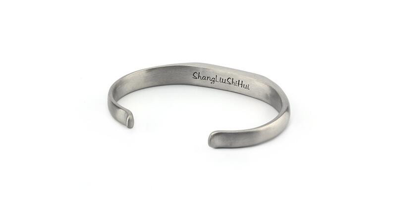 Vintage Stainless Steel Bracelet Men Titanium Steel Heavy Cuff Bangle Bracelets & Bangles Men Jewelry pulseira masculina 7