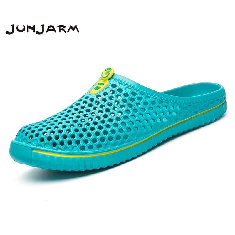 JUNJARM Men Summer Shoes Men Slippers Fashion Men Sandals Valentine Lovers Shoes Honeycomb Beach Shoes Breathable Mens Footwear fghgf shoes men s slippers mak