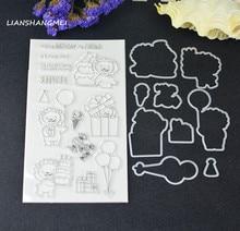 Birthday lion Metal Cutting Dies and stamp Stencils for DIY Scrapbooking