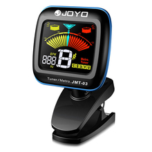 JOYO Portable Color Screen 2 in 1 Digital Tuner Metronome Clip On Mic Tuning For Chromatic Guitar Bass Ukulele Violin