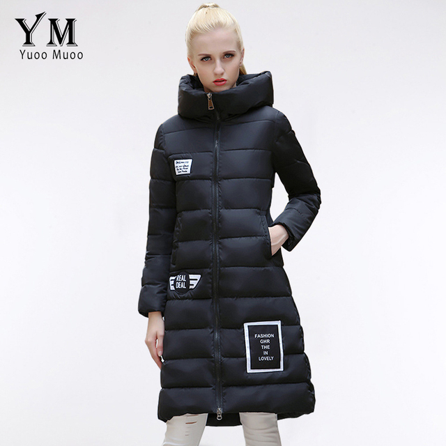 YuooMuoo New 2016 Plus Size Winter Jacket Women Cotton Padded Long Down Jacket European Fashion Windproof Parka Female Coat