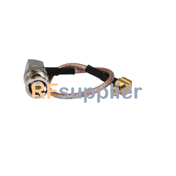 jumper wire/ pigtail cable RG316 BNC male right angle to MCX male wholesale Customizable