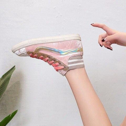 Women Shoes 2019 NewSpring Fashion Women Casual Shoes High Top Ladies Sneakers Winter Women Tenis Feminino Winter Sneakers Pakistan