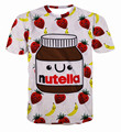 Alisister Fashion graphic tees Women/men print nutella chocolate t shirt funny harajuku t-shirts plus size women kawaii clothes