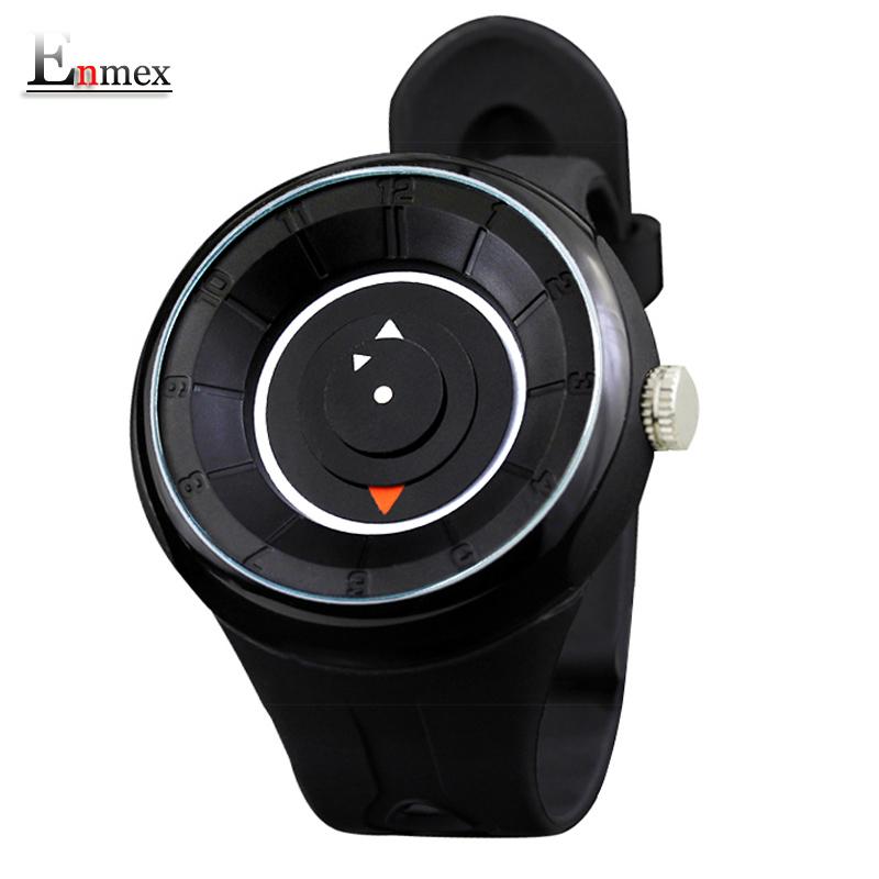 Prix pour 2017 hommes de cadeau enmex 3d disques creative time code montre-bracelet étanche conception lumière sport mode casual montres à quartz