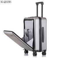 KLQDZMS 18/20/22/24/26inch creative Rolling Luggage Spinner Men Trolley Women Travel bag On Wheel Cabin luggage with laptop bag