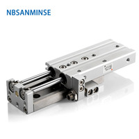 MXQ 20 25mm Pneumatic SMC Air Cylinders Air Slide Table Double Acting Cylinder Industry Automation Parts NBSANMINSE