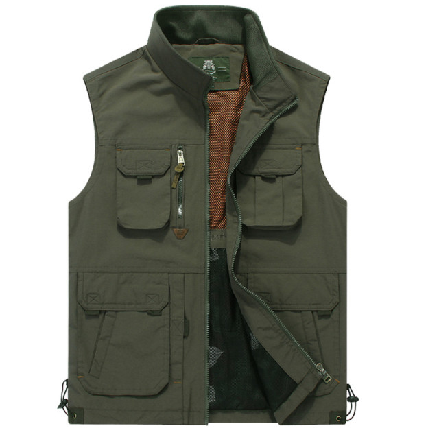 Men Vest Coat Manteau Homme Brand Clothing 2016 Spring Casual Zipper Cargo Vests Mens  Sleeveless Jackets Waistcoat