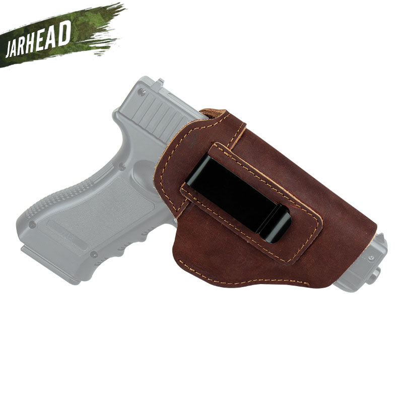 Concealed Cowhide Leather Gun Holster For Glock 17 19 26 43 P220 P226 SP2022 P229 P239 <font><b>P250</b></font> Beretta 92 Accessorie image